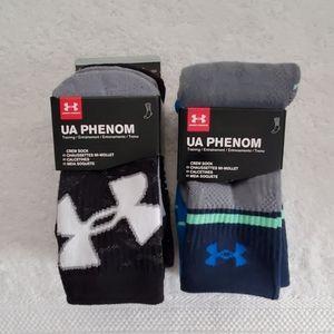 NWT boy's Under Armour crew socks size13.5K to 4Y